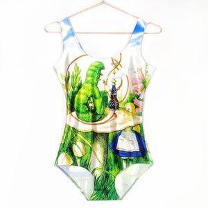 Alice and The Caterpillar One Piece Bodysuit